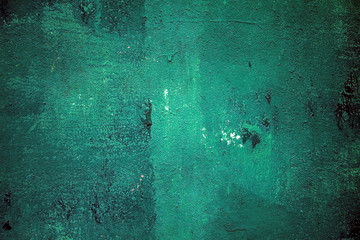 green painted wall  with drops texture