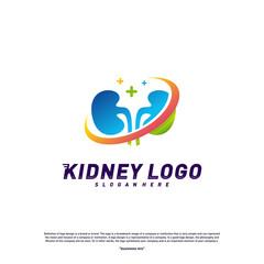 Kidney Logo Design Concept. Urology Logo Vector Template