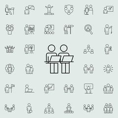 staff at the desk icon. Business Organisation icons universal set for web and mobile