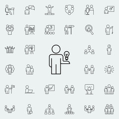 creative idea of ??an employee icon. Business Organisation icons universal set for web and mobile