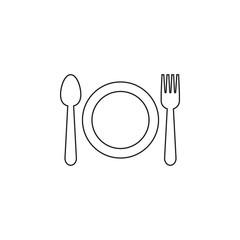 Utensil icon graphic design template vector