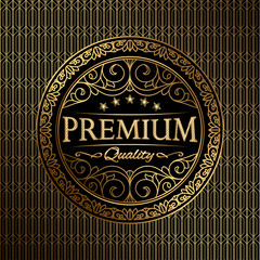 Premium quality decorative golden emblem