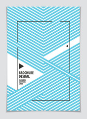 Brochure Design Template minimal design. Modern Geometric Abstract pattern vector background. Striped line textured geometric illustration. A4 print format.