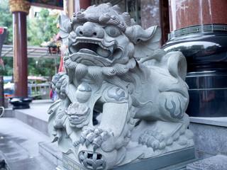台湾を旅行した時に出会った石像、アジアの寺