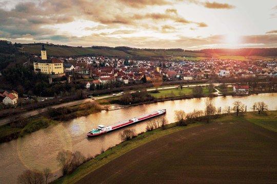 Gundelsheim im Sonnenaufgang