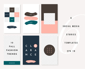 Vertical Social Media Post Stories Templates Set