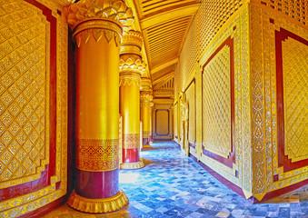 Ornate Bee Throne Hall, Kanbawzathadi palace, Bago, Myanmar