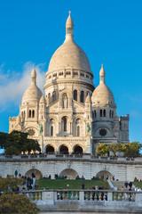 PARIS, FRANCE - NOVEMBER 9, 2018 - Basilica of the Sacred Heart of Paris, or Montmartre Sacré-Cœur, is a popular landmark and the 2nd most visited monument in Paris