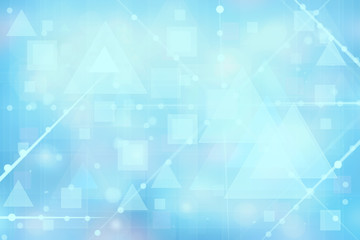 Abstract new communication and technology background texture. A blurred blue futuristic illustration with geometric connected lines between dots. Beautiful geometrical texture.