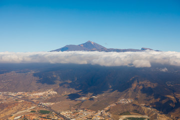 Mount Teide volcano, Tenerife island, aerial view