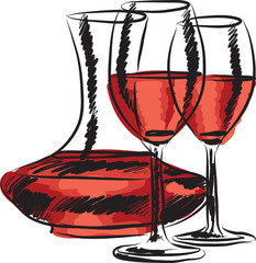 wine illustration