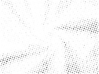 Abstract Halftone gradient dots background. Black white grunge texture. Pop Art circle comic pattern. Polka dots, rays twisted vector pattern. Template for presentation flyer, business cards, stickers