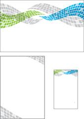 wave letterhead illustration