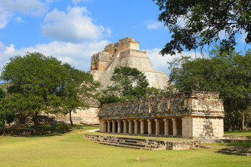 Uxmal - ancient Maya city of the classical period in present-day Mexico.