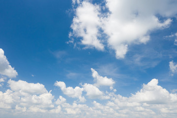 Blue Sky background with white clounds