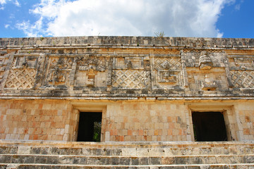 Uxmal - ancient Maya city of the classical period in present-day Mexico.   - fototapety na wymiar