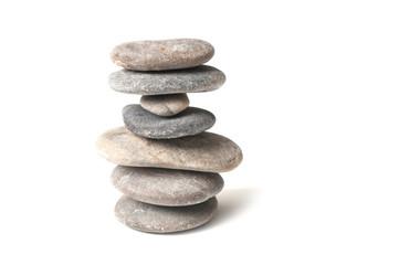 Obraz closeup of stone balance on white background - fototapety do salonu