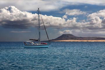 Boat trip around Lobos Island, Fuerteventura, Canary Island, Spain