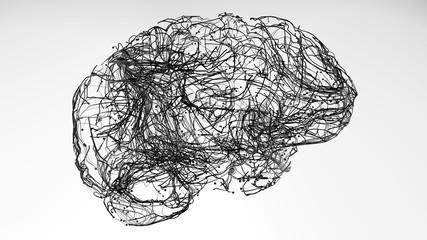 Brain neurons connections