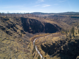 Three Forks Canyon after Fire