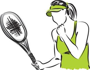 tennis player 2 illustration
