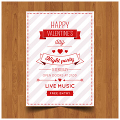 Title: Elegant Lovely valentines day party invitation celebration flyer