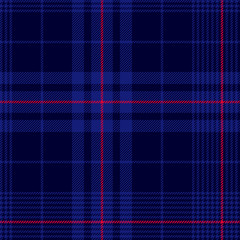 Deep blue tartan plaid pattern