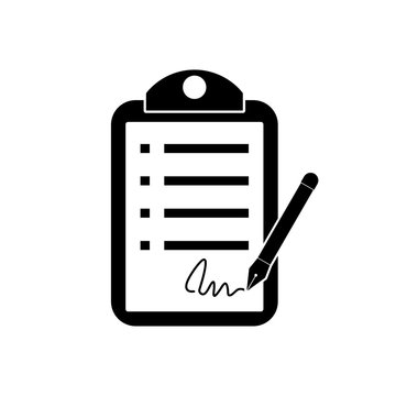 Contract Signing Legal Agreement Concept icon or logo