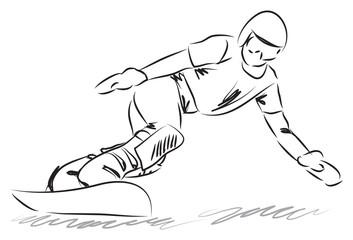 snowboarding illustration
