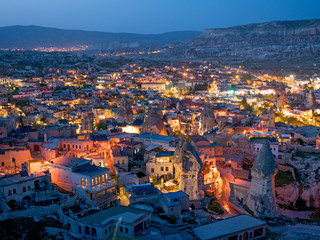 Night view of Goreme, Cappadocia, Turkey