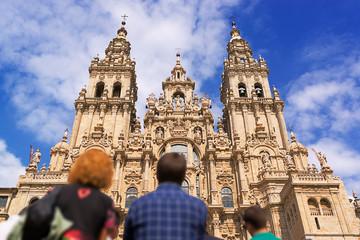 Santiago de Compostela cathedral church  in Galicia, Spain Wall mural