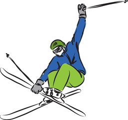 ski jumping illustration