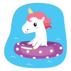 Summer Unicorn On Inflatable