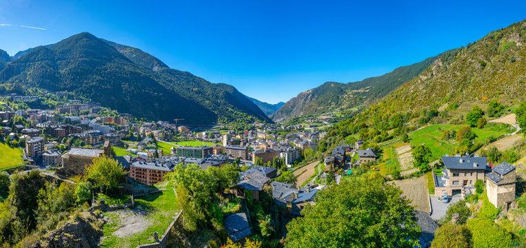 Aerial view of Encamp, Andorra