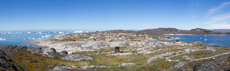 Panoramic view of Rodebay, Greenland