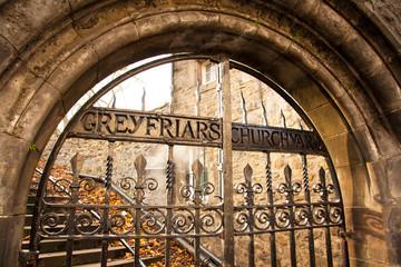 Greyfriars cemetery old gate, Edinburgh