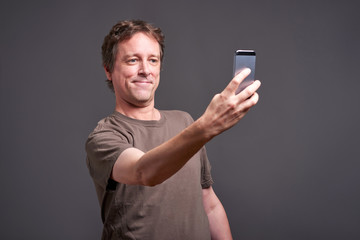 Man with a smartphone