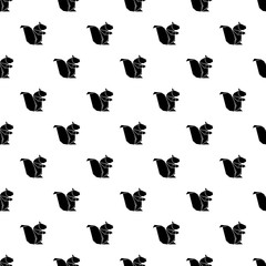 Origami squirrel pattern vector seamless repeating for any web design