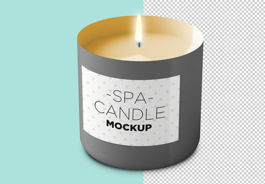 Candle Label Mockup