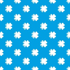 Quatrefoil leaf pattern vector seamless blue repeat for any use
