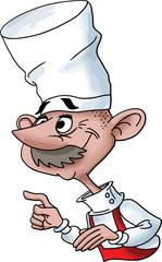 cartoon chef vector illustration