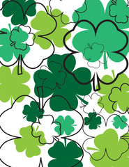 Clovers and Outlines Abstract Background