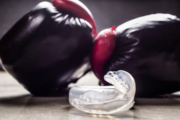 boxing mouth guard .protection for teeth