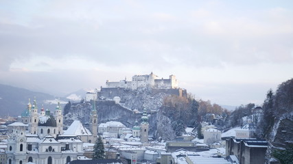 View of a cold Salzburg.