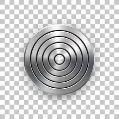Fototapete - Abstract Technology Circle Geometric Metal Badge Template