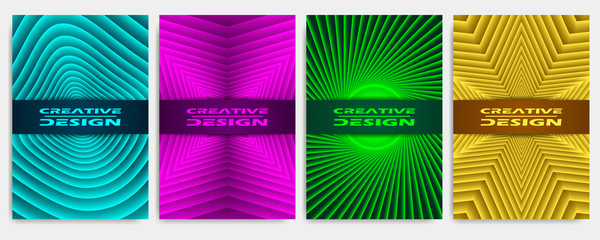Covers modern abstract design templates set. Geometric compositions for flyer, banner, brochure and poster.