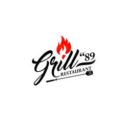 Hot Grill logo vintage