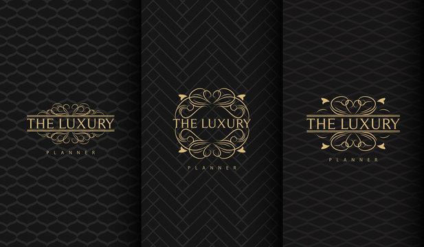Set of luxury logo