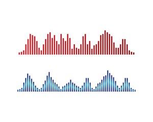 Sound wave logo template vector icon