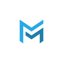 letter mm logo template. double letter m creative symbol vector design.
